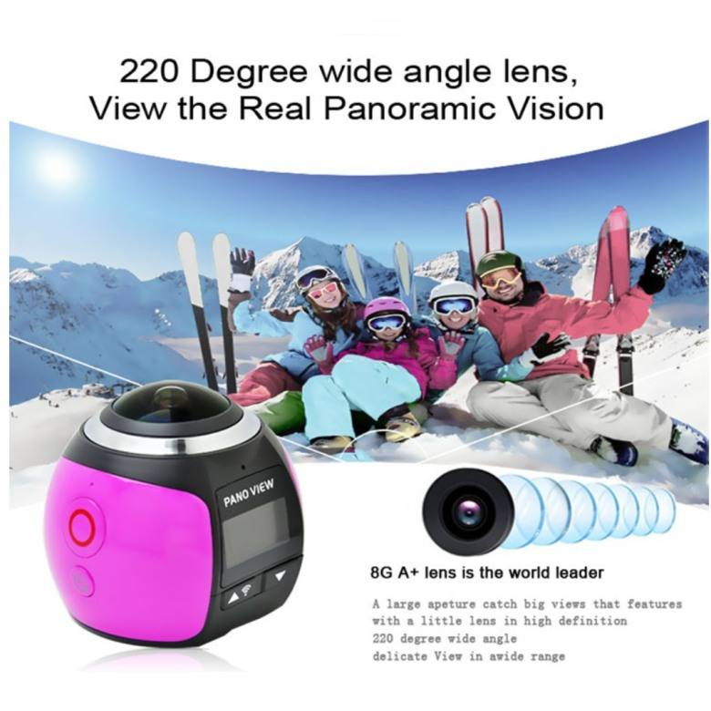 360 Degree Pano View HD Camera With WIFI Function