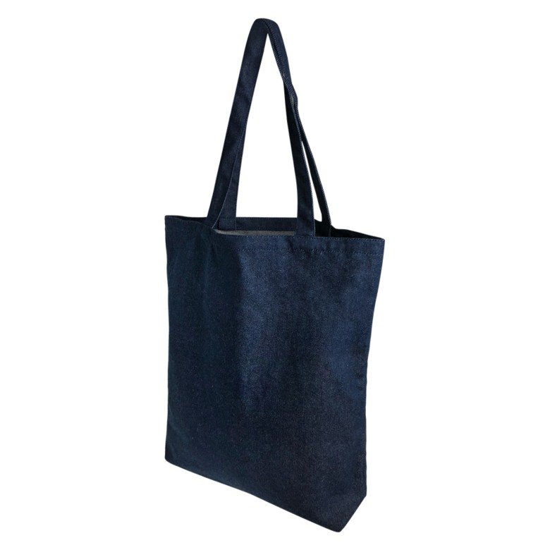 Quality Blue Canvas Tote bag with base