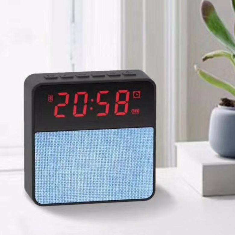 Bluetooth Speaker with FM Radio and Clock [Fabric]