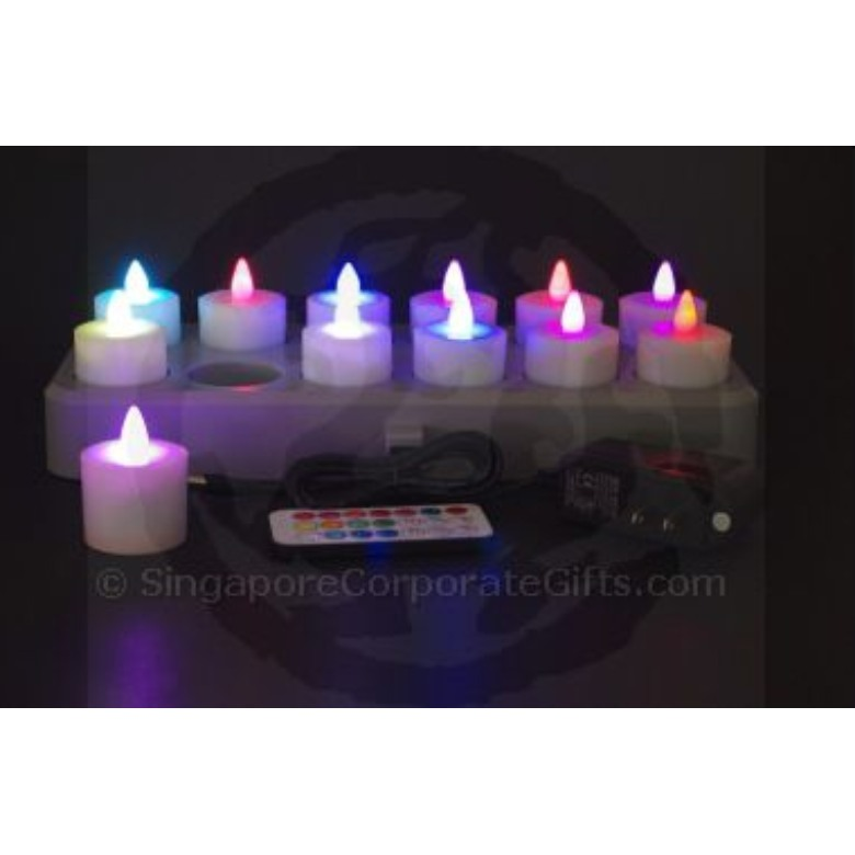 Rechargable 12 LED Candle (Multi-Colour) with remote control