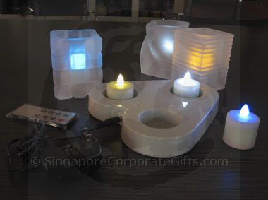 Rechargable 3 LED Candle (Single Colour)-remote