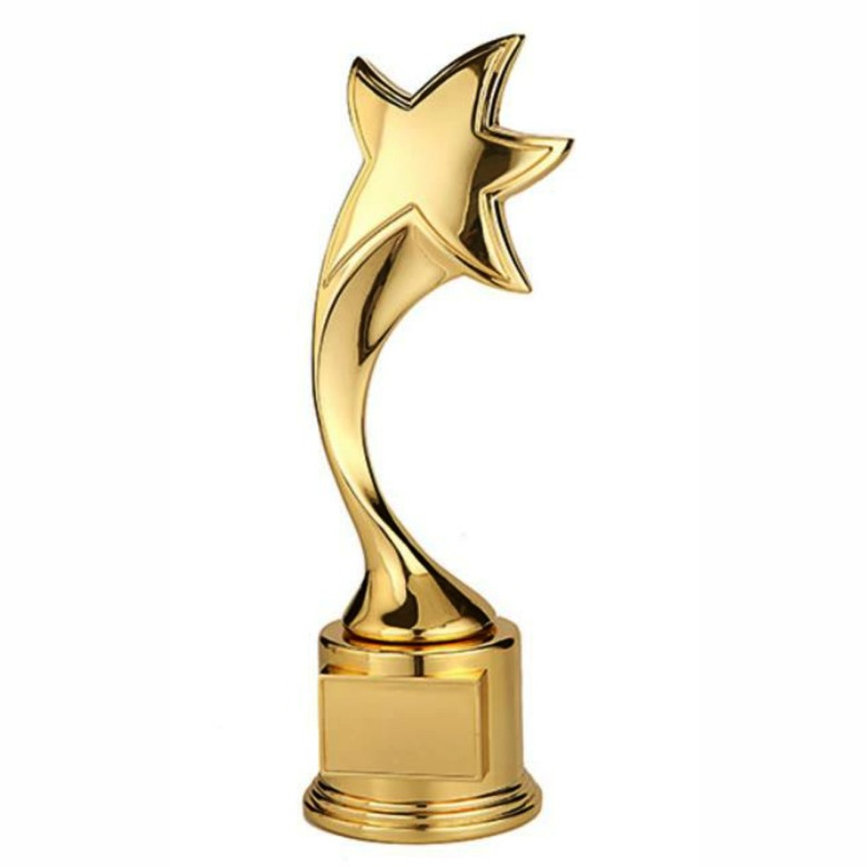 Double layer Golden Star Trophy