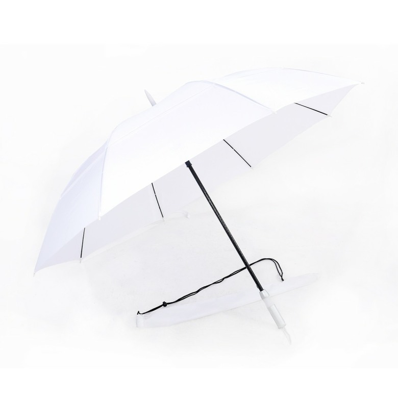 Double Tiered. Auto Open, Solid Color, Windproof Golf Umbrella