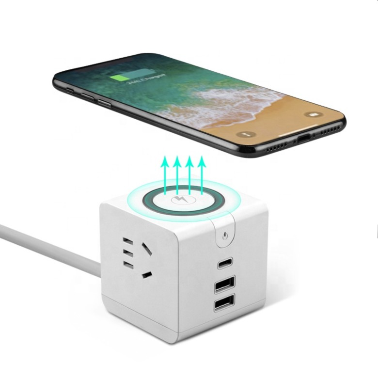 Universal Travel Adaptor with Wireless Charging